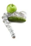 Conceito do estilo de vida saudável (pepino e maçã) Foto de Stock