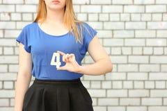 Conceito do estudante fêmea Menina bonita fotos de stock royalty free