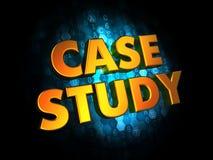 Conceito do estudo de caso no fundo de Digitas. ilustração royalty free