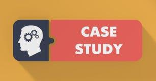 Conceito do estudo de caso no projeto liso. ilustração do vetor