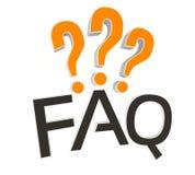 Conceito do FAQ 3D Imagens de Stock Royalty Free