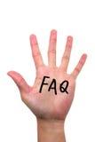 Conceito do FAQ  fotos de stock