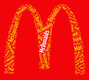 Conceito do fast food Imagens de Stock Royalty Free