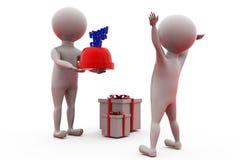 conceito do feliz aniversario do homem 3d Imagem de Stock Royalty Free
