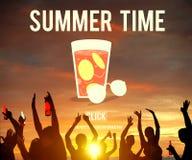 Conceito do feriado das férias das horas de verão imagem de stock