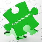 Conceito do feriado: Entretenimento no fundo do enigma Foto de Stock