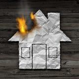 Conceito do fogo da casa Imagem de Stock Royalty Free