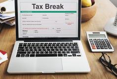 Conceito do formulário de imposto da responsabilidade do empréstimo do plano de aposentação fotografia de stock royalty free
