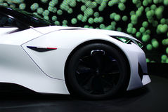Conceito do Fractal de Peugeot nos carros de IAA Fotografia de Stock