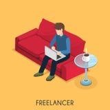 Conceito do Freelancer Imagens de Stock Royalty Free