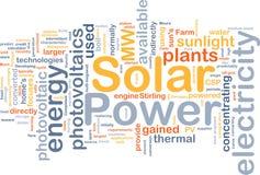 Conceito do fundo da potência solar Fotografia de Stock Royalty Free