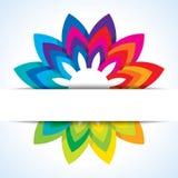 Conceito do fundo da roda da flor da cor ilustração do vetor