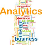 Conceito do fundo de Analytics ilustração stock
