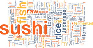 Conceito do fundo do alimento do sushi Imagem de Stock