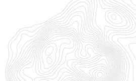 Conceito do fundo do mapa topográfico com espaço para sua cópia Linhas contorno da topografia da arte, fuga de caminhada da monta ilustração stock