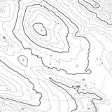 Conceito do fundo do mapa topográfico com espaço para sua cópia Linhas contorno da topografia da arte, fuga de caminhada da monta Foto de Stock Royalty Free