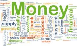 Conceito do fundo do pagamento de dinheiro Foto de Stock