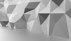 Conceito do fundo do triângulo rendido ilustração do vetor