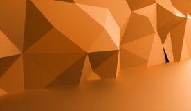 Conceito do fundo do triângulo rendido ilustração stock