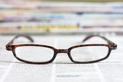 Conceito do fundo dos jornais e dos compartimentos Imagens de Stock