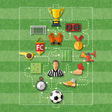 Conceito do futebol ilustração do vetor