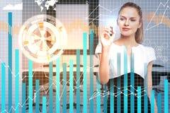 Conceito do futuro e da economia Fotos de Stock Royalty Free