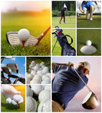 Conceito do golfe Fotos de Stock Royalty Free