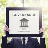 Conceito do gráfico da coluna do governo da autoridade fotos de stock royalty free