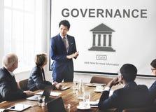 Conceito do gráfico da coluna do governo da autoridade Imagens de Stock