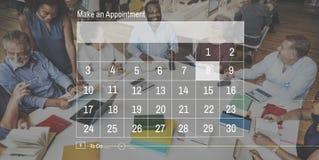 Conceito do gráfico da nomeação das datas de calendário imagem de stock royalty free