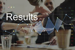 Conceito do gráfico de Análise Corporaçõ do progresso dos resultados de negócio fotografia de stock