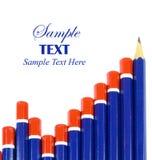 Conceito do gráfico de barra do lápis fotografia de stock royalty free