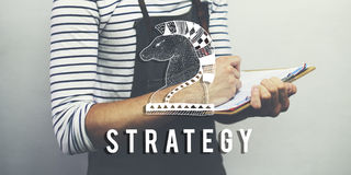 Conceito do gráfico de Chess Piece Strategy do cavaleiro fotos de stock