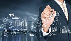 Conceito do gráfico do desenvolvimento das ideias da gestão do projeto imagens de stock royalty free