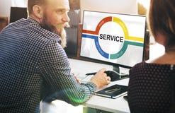 Conceito do gráfico do comentário do feedback do serviço ao cliente fotografia de stock royalty free