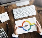 Conceito do gráfico do comentário do feedback do serviço ao cliente imagem de stock
