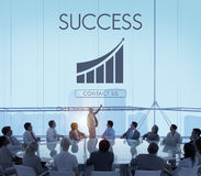 Conceito do gráfico do relatório do sucesso comercial imagem de stock royalty free