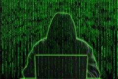 Conceito do hacker Fotos de Stock Royalty Free