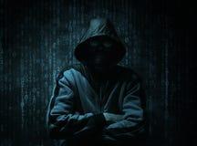Conceito do hacker do Cyber imagens de stock royalty free
