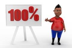 conceito 100% do homem 3d Fotografia de Stock Royalty Free