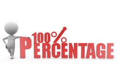 conceito 100% do homem 3d Imagens de Stock Royalty Free