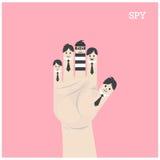 Conceito do homem de negócios, sinal engraçado dos dedos Conceito dos trabalhos de equipa Fotografia de Stock