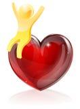 Conceito do homem do coração Foto de Stock Royalty Free