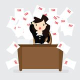 Conceito do imposto da mulher de negócio Imagens de Stock Royalty Free