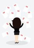 Conceito do imposto da mulher de negócio Fotos de Stock Royalty Free