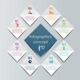 Conceito do infographics de Digitas Fotografia de Stock Royalty Free
