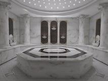 Conceito do interior do banheiro dos termas de Hammam Foto de Stock