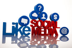 Conceito do Internet com meios sociais fotos de stock royalty free