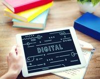Conceito do Internet da inovação da conexão de Digitas da tecnologia Imagens de Stock Royalty Free
