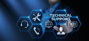 Conceito do Internet da tecnologia do negócio de serviço ao cliente do suporte laboral ilustração stock